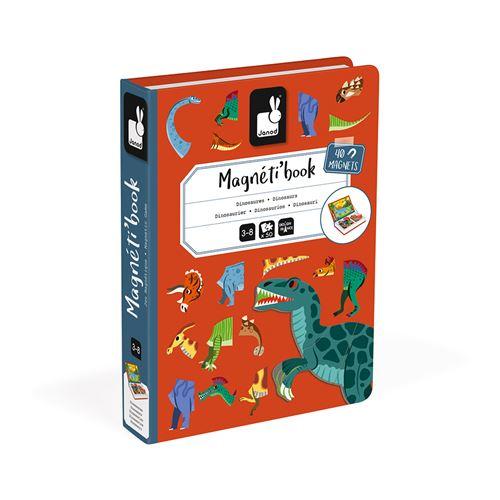 Jeu éducatif magnétique Janod Magneti'book Dinosaures