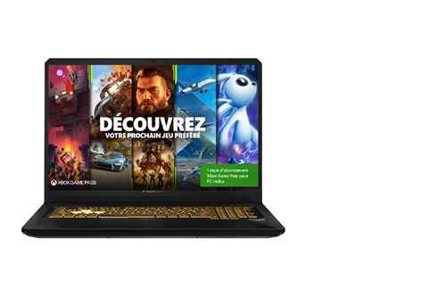 "PC Portable Gaming Asus TUF705DT H7237T 17,3"" AMD Ryzen 7 16 Go RAM 512 Go SSD Noir"