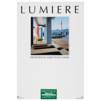 Papier photo Lumière Prestige Brillant 32.9 x 48.3 cm - 25 feuilles