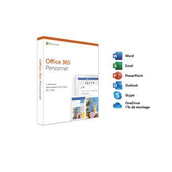 Microsoft Office 365 Personnal - 1 Gebruiker - PC of Mac - 1 Jaar