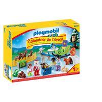 Calendrier de l'avent Playmobil 1.2.3 La magie de Noël 9391 Père Noël animaux forêt