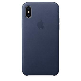 Coque en cuir Apple Bleu nuit pour iPhone X