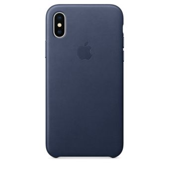 APPLE IPHONE X LEATHER CASE MIDNIGHT BLUE
