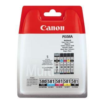 Pack de 5 cartouches d'encre Canon PGI-580/CLI-581