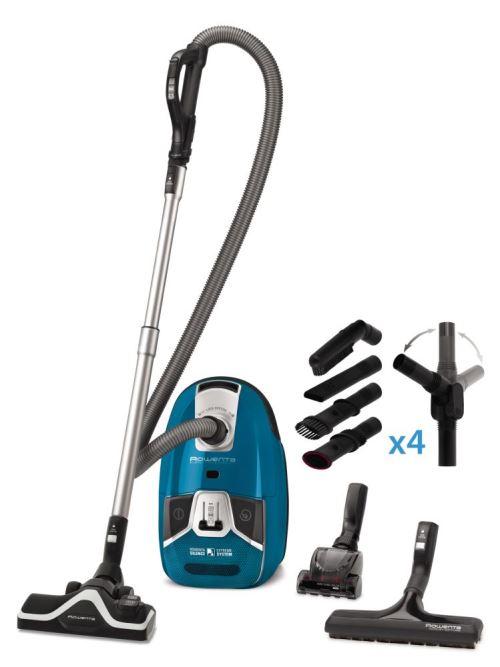 Aspirateur avec sac Rowenta Silence Force Compact RO6381EA 550 W Bleu et Noir