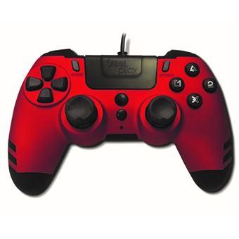 Manette PS4 filaire Steelplay MetalTech Rouge