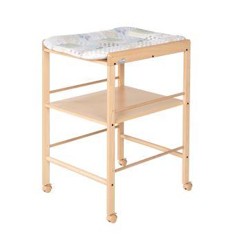 Table langer en bois avec 1 tag re geuther beige - Table a langer en bois avec baignoire ...