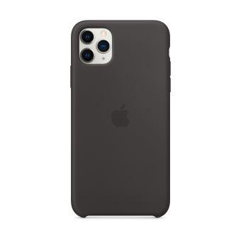 Coque en silicone pour iPhone 11 Pro Max Noir