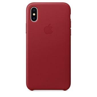 Coque en cuir Apple Rouge pour iPhone X