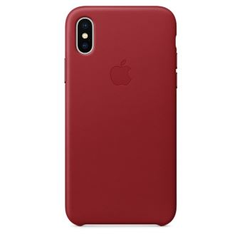 Coque en cuir Apple Rouge pour iPhone X