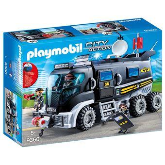 Playmobil City Action Les policiers d'élite 9360 Camion policiers d'élite avec sirène et gyrophare