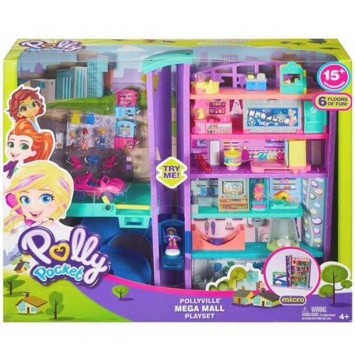 Playset Polly Pocket Le Centre commercial