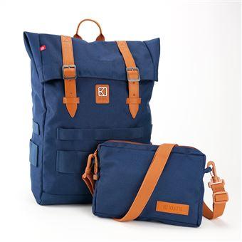 Sac à dos personnalisable et modulable Kuts Swell 14 L Bleu et Marron