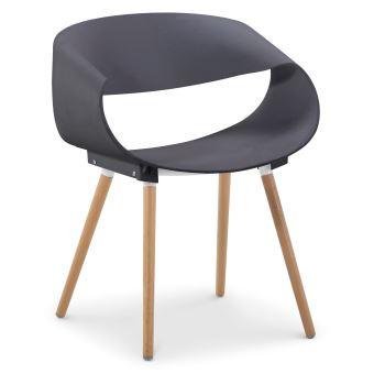 Lot scandinaves 20 de design chaises Zenata Gris E9DH2I