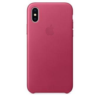 Coque en cuir Apple Fuchsia pour iPhone X