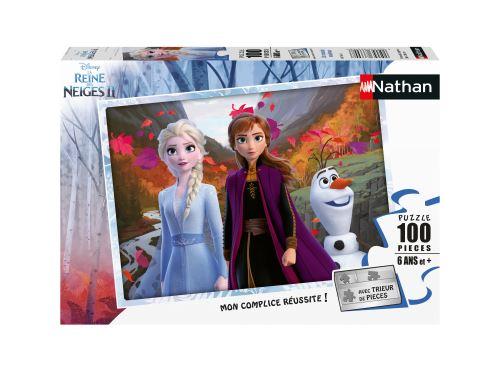 Puzzle 100 pièces Nathan Un monde magique Disney La Reine des Neiges 2