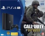 Sony Pack Sony Console PS4 Pro 1 To + Call of Duty : World War...