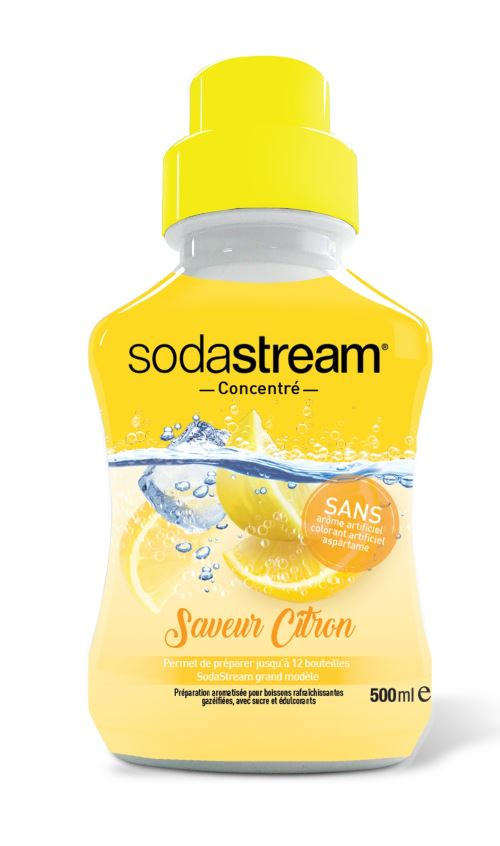 Concentré Sodastream Saveur Citron Original, 500 ml