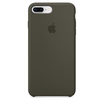 Coque en silicone Apple Olive sombre pour iPhone 7 Plus et 8 Plus