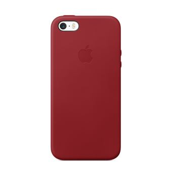 Coque en cuir Apple Rouge pour iPhone SE