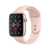 Apple Watch Series 5 GPS 44 mm Boîtier en Aluminium Or avec Bracelet Sport Rose Tailles S/M et M/L - Réservez-le - Bientôt Livrable