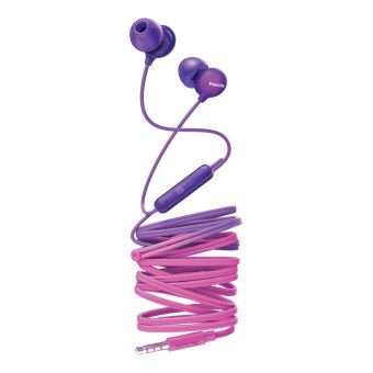 Ecouteurs intra-auriculaires Philips UpBeat SHE2405PP Rose et violet avec Micro