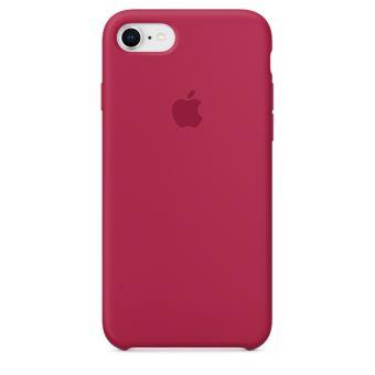Coque en silicone Apple Rose Rouge pour iPhone 7 et 8