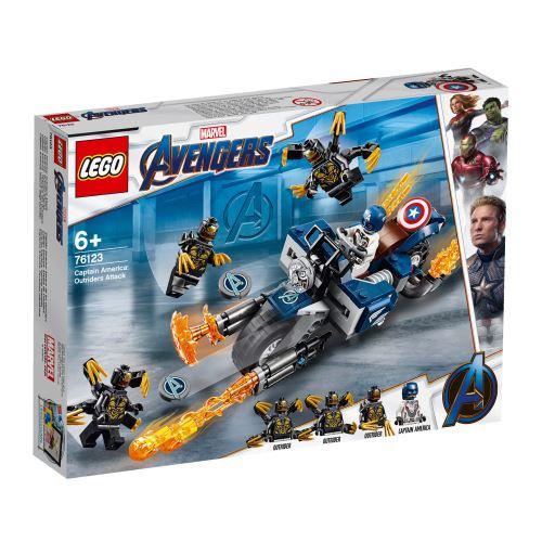 LEGO® Marvel Avengers 76123 Captain America et l'attaque des Outriders