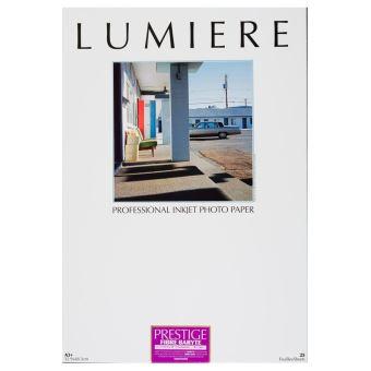 Papier photo Lumière Prestige Fibre baryté satiné 32.9 x 48.3 cm - 25 feuilles