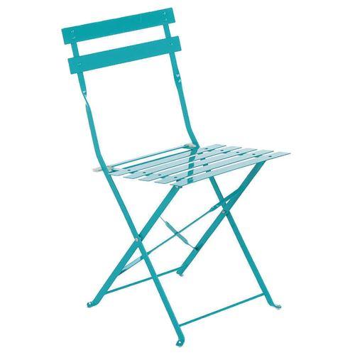 Chaise de jardin Hespéride Pliable Camargue Lagon Brillant