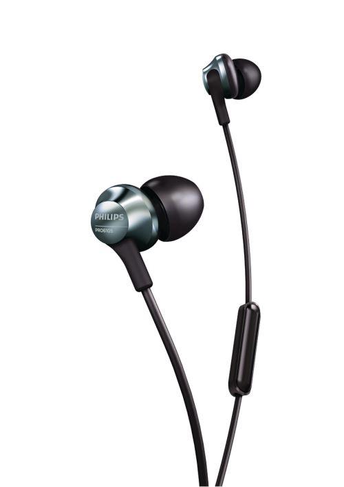 Ecouteurs intra-auriculaires Philips Pro 6105BK Noir avec micro et contrôle du volume