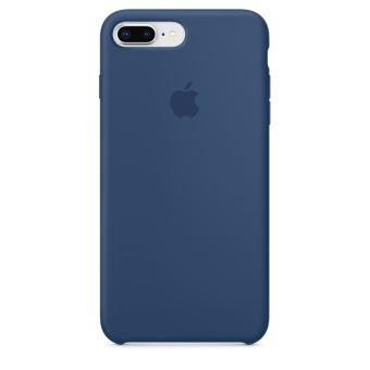 Coque en silicone Apple Bleu Cobalt pour iPhone 7 Plus et 8 Plus