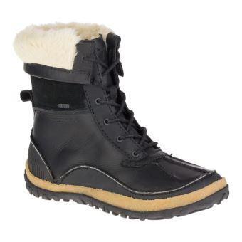 202391e4492 Chaussures de randonnée Femme Merrell Tremblant Mid Polar Waterproof Noires  Tailles 37