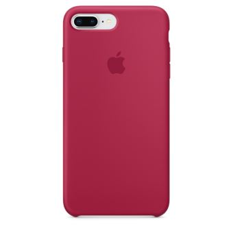 Coque en silicone Apple Rose Rouge pour iPhone 7 Plus et 8 Plus