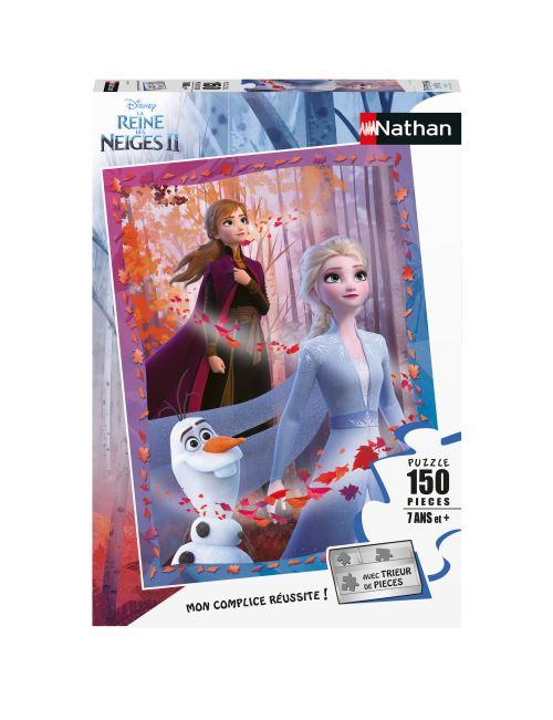 Puzzle 150 pièces Nathan Elsa Anna et Olaf Disney La Reine des Neiges 2