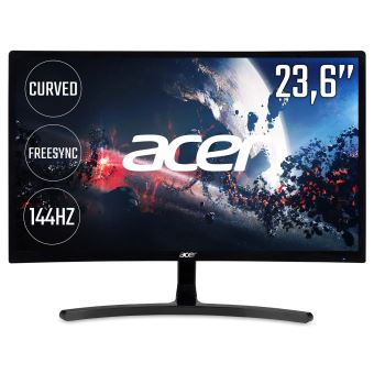 "Acer ED242QRAbidpx - LED-monitor - gebogen - 23.6"" - 1920 x 1080 Full HD (1080p) - VA - 250 cd/m² - 3000:1 - 4 ms - HDMI, DVI, DisplayPort - zwart"
