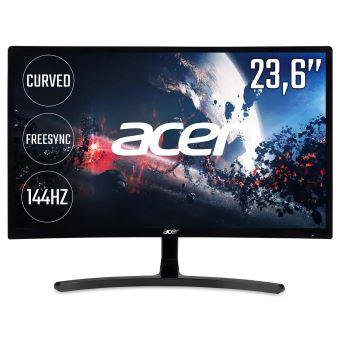 "Acer ED242QRAbidpx - LED-monitor - gebogen - 23.6"" - 1920 x 1080 Full HD (1080p) - VA - 250 cd/m² - 3000:1 - 4 ms - HDMI, DVI, DisplayPort - zwart"