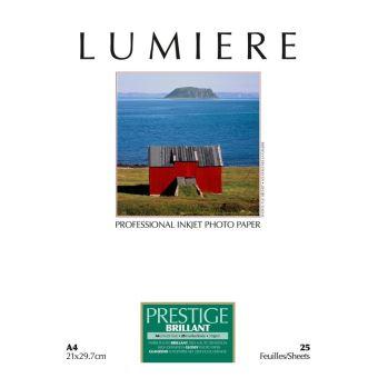 Papier photo Lumière Prestige Brillant 21 x 29.7 cm - 25 feuilles