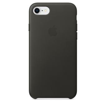 APPLE IPHONE 8 / 7 LEATHER CASE CHARCOAL GRAY