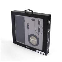 Coffret Temium Premium Powerbank 5 000 mAh + Câble renforcé 3 en 1 Noir