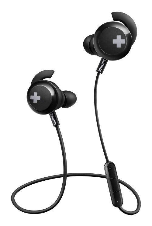 Ecouteurs sans fil Philips BASS+ SHB4305BK Noir