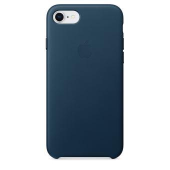 Coque en cuir Apple Bleu Cosmos pour iPhone 7 et 8
