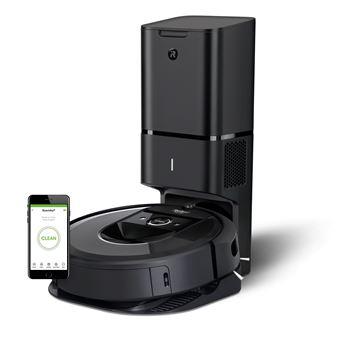 Aspirateur robot Irobot Roomba i7+ avec sa base autovidage CleanBase Noir