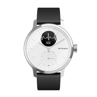 Montre connectée Withings Scanwatch 42mm Blanc