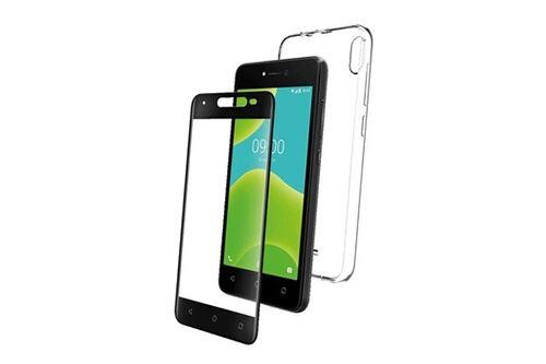 LJSM Coque pour Wiko Y50 + 3 Pi/èces Clear Verre tremp/é /écran Film Protecteur Semi-Transparent Souple Silicone /Étui Protection Housse TPU Case Cover pour Wiko Y50 5.0
