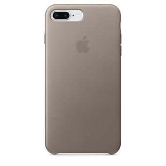 Coque en cuir Apple Taupe pour iPhone 7 Plus et 8 Plus