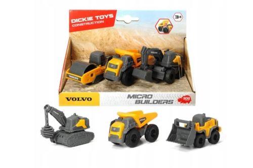 Coffret 3 véhicules de construction Dickie Toys Volvo Modèle aléatoire