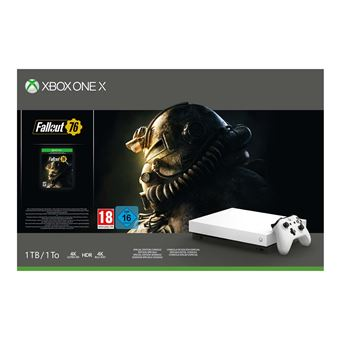 Pack Console Xbox One X 1 To Edition Limitée Robot White + Fallout 76