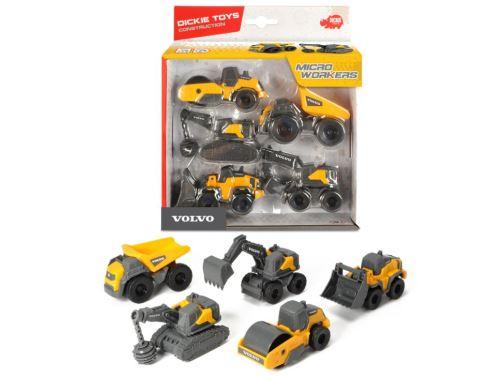 Coffret 5 véhicules de chantier Dickie Toys Volvo