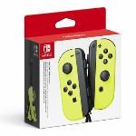 LGIT Paire de manettes Nintendo Switch Joy-Con Jaune Fluo